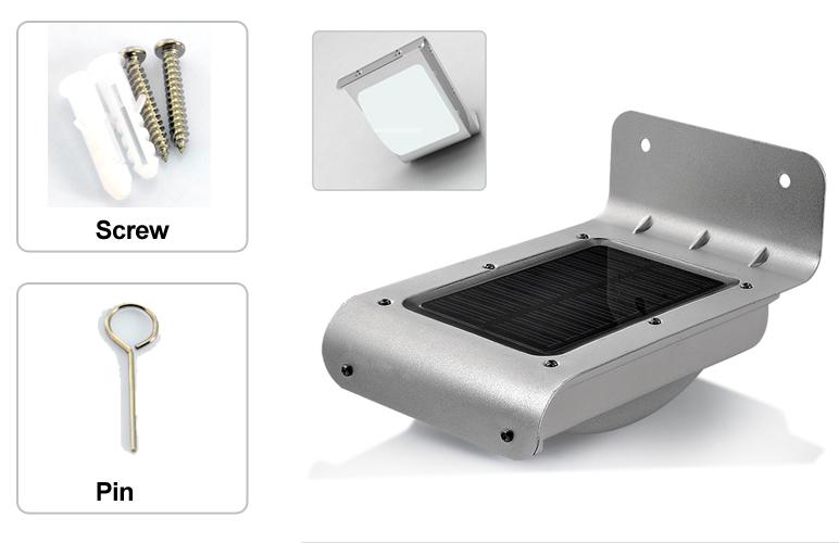 16 LED Outdoor Stainless Steel Sound Sensor Solar Light